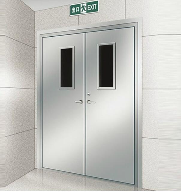 <b>广东钢质防火门厂提供钢质防火门双开带视口玻璃有消防供货证明验收资料</b>