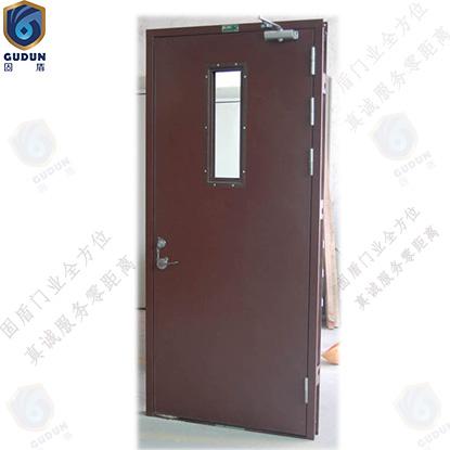 广东钢质防火门厂生产钢质防火门单开防火门带视口玻璃视窗提供S标及3C认证