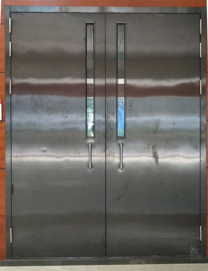 广东不锈钢玻璃防火门厂生产不锈钢防火门带视口